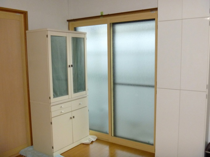 リビング 掃き出し窓:内窓プラスト+防音ガラス12mm 施工後