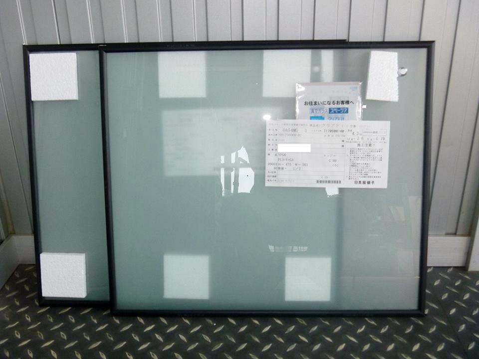 ガラス発送時の梱包状態