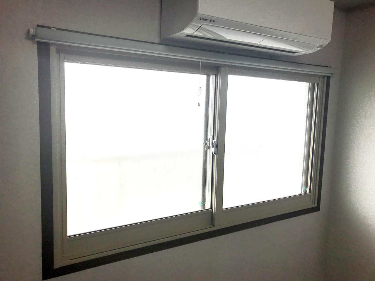内窓プラスト&防音合わせガラス施工後