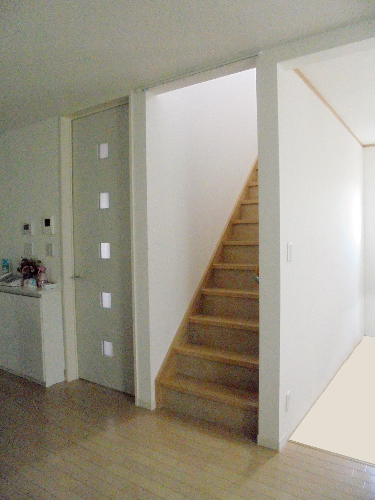 階段上り口施工前