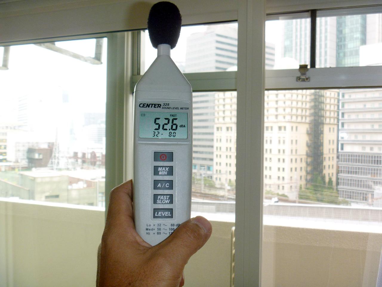 既存窓のみの騒音測定値