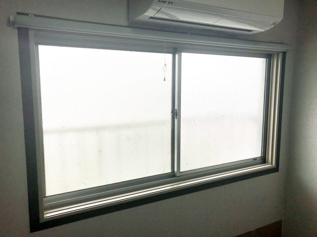 内窓プラスト枠取付後