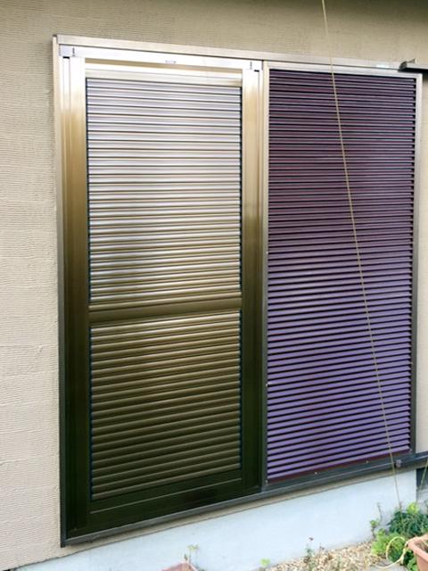 エコアマドDIY設置後(左側の雨戸)