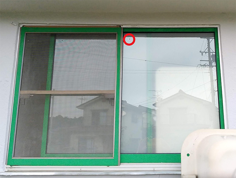 真空ガラススペーシア(すりガラス)DIY設置後