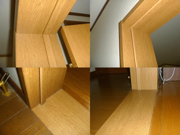 施工前のドア枠