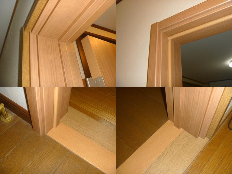 室内防音ドアのドア枠施工後