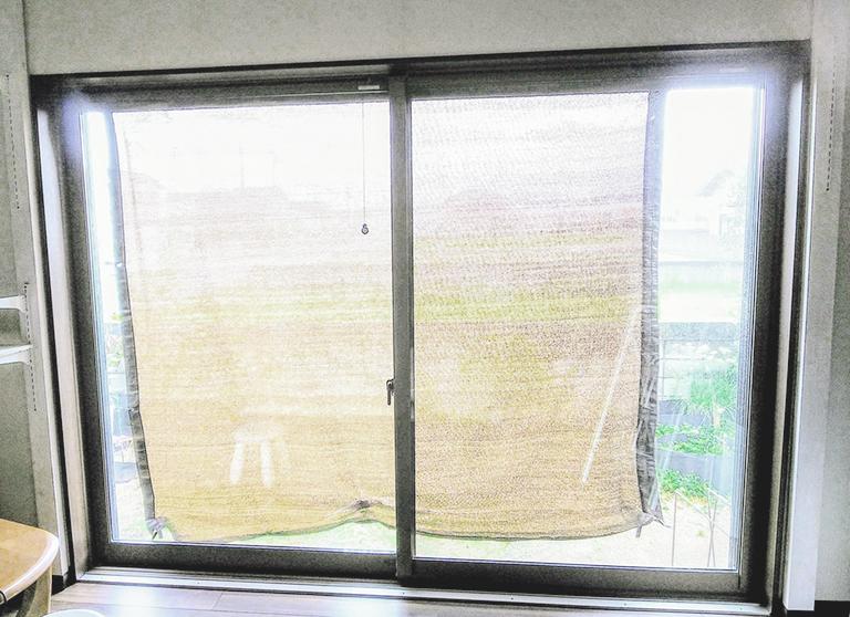 施工前の掃き出し窓(お客様撮影)
