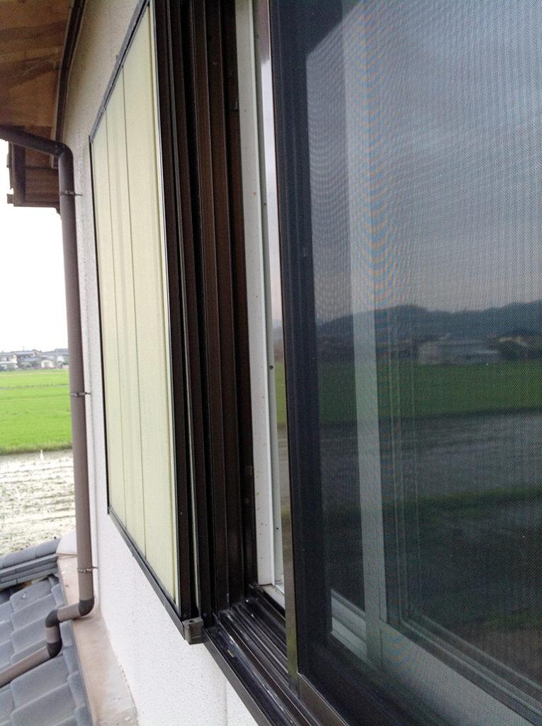 既存雨戸の外観