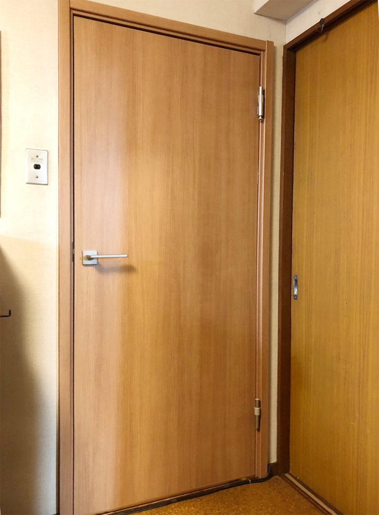 室内防音ドアDIY施工後(部屋側)