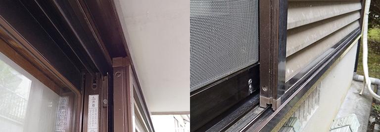 (お客様から送付いただいた写真)施工前の既存雨戸