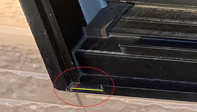 ECO窓ファクトリーから返送した採寸箇所指示の画像