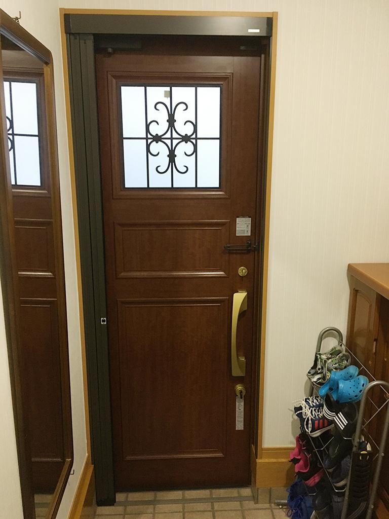 リフォーム前の既存玄関ドア(内側)