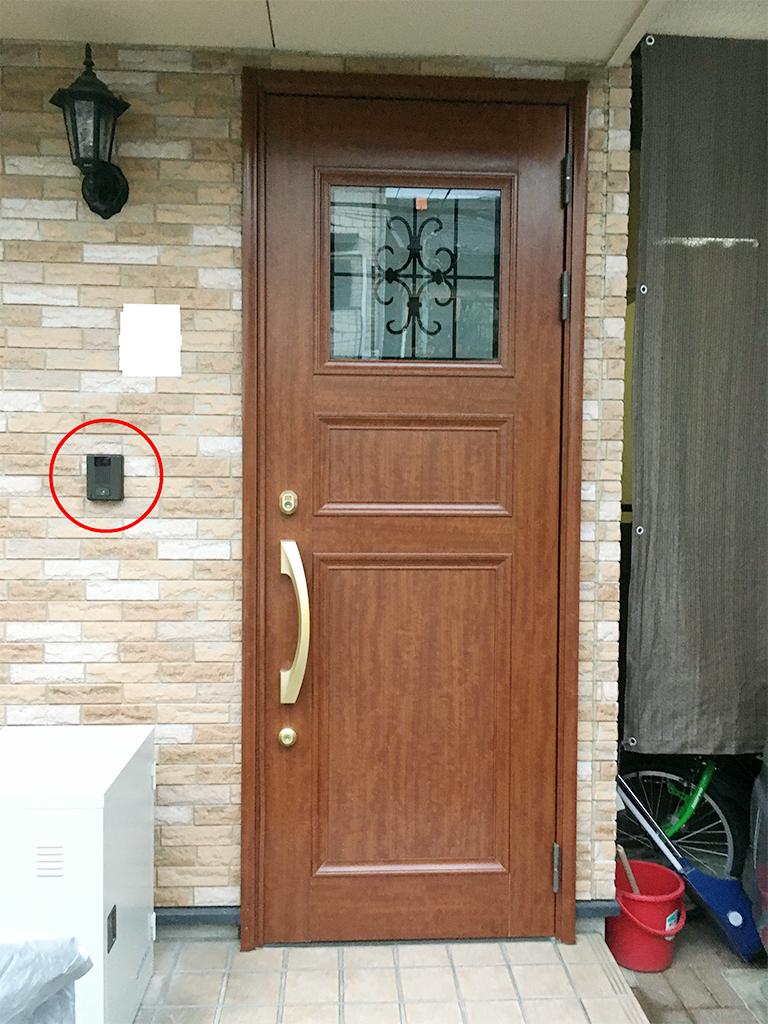 リフォーム前の既存玄関ドア(外側)