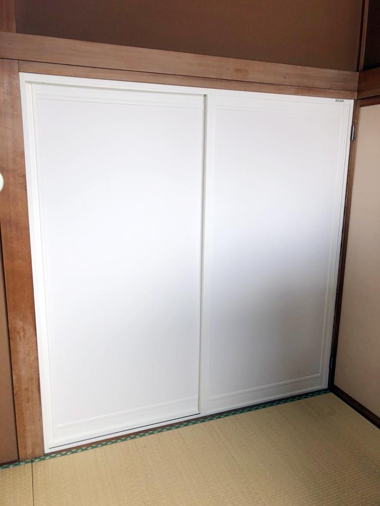 室内防音引戸(大信工業プラスト+防音合せガラス)施工後