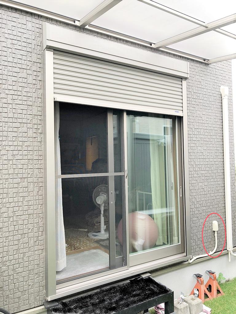 シャッター電動化工事(三和シャッター工業:マドモアチェンジ)施工後